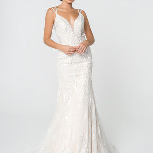V-Neckline Mermaid Long Wedding Dress GSGL2820
